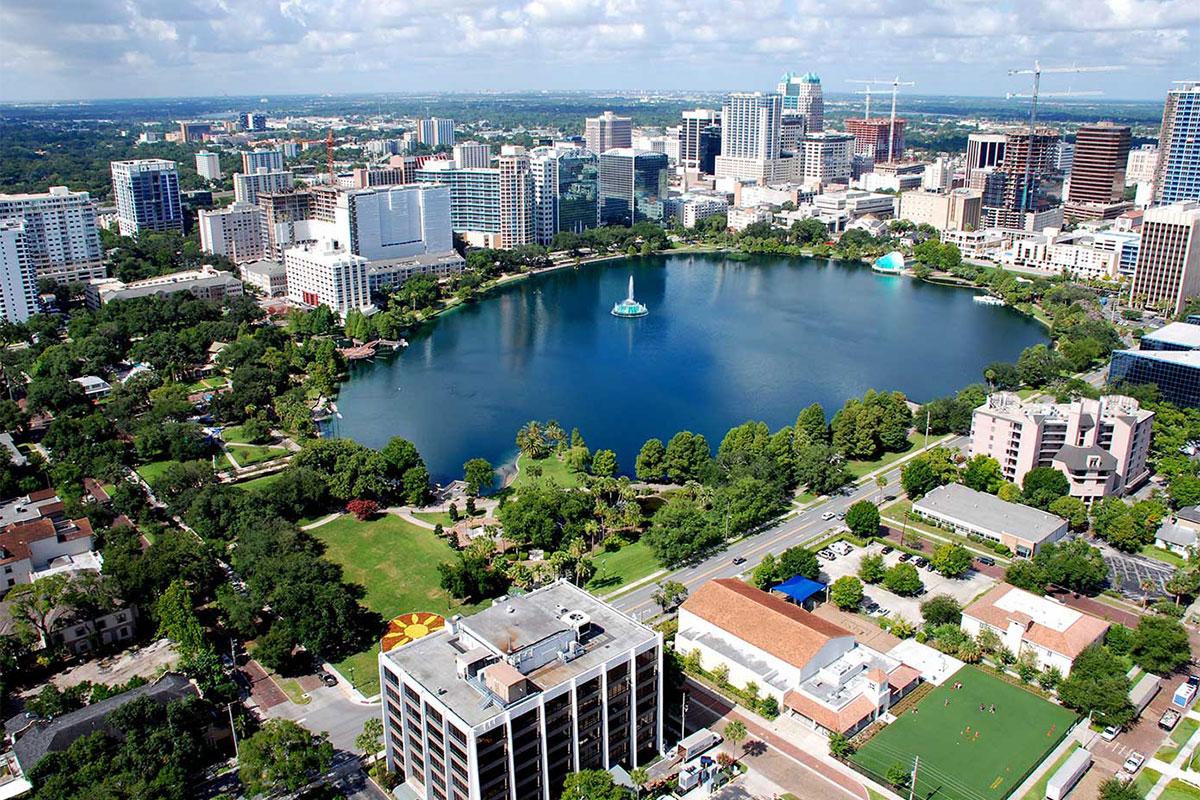 Aerial View of Orlando, Florida