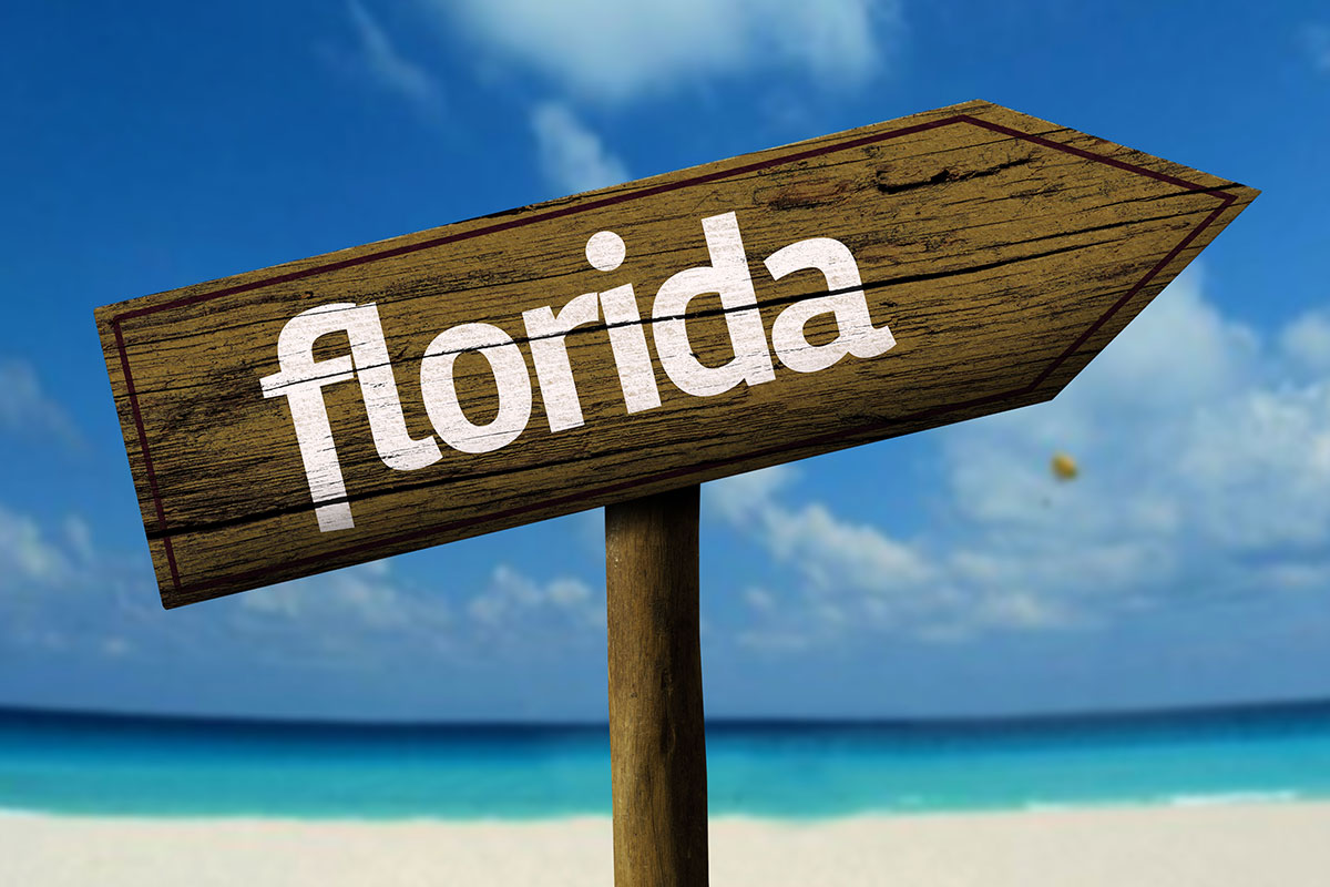 Wooden Florida Sign